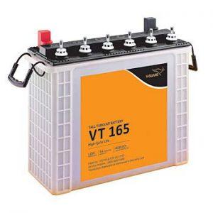 V-GUARD VT165 152AH Tall Tubular Inverter Battery,Multicolour
