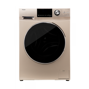 Haier 7 kg Fully-Automatic Front Loading Washing Machine (HW70-B12636GNZP, Gold)